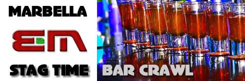 Bar Crawl Marbella, Costa del Sol, Spain, Stag nightclubs Puerto Banus
