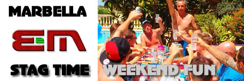 Stag Weekends, Stag Nights in Marbella, Stag Party events Companies on the Costa del Sol