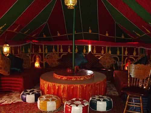 Moroccan Event in Marbella - Moroccan Tent Interior
