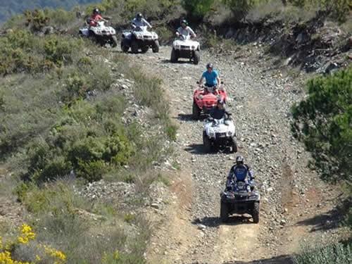 Quads 4x4 On a Mountain Trail