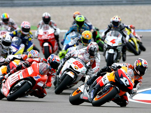 Moto GP Action in Marbella