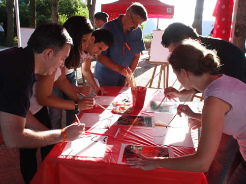 Corporate events in Marbella - Picasso Hard At Work